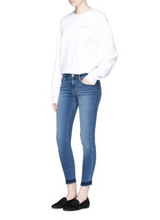 Frame Denim 'Le Skinny de Jeanne' cropped let-out cuff jeans