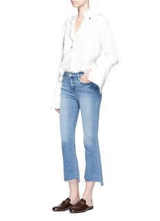 Frame Denim 'Le Crop Mini Boot' staggered jeans