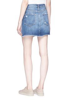 Frame Denim 'Le Mini' distressed raw edge denim skirt