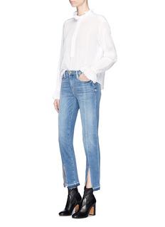 Frame Denim'Le Nouveau Straight' split cuff jeans