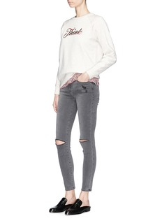 Frame Denim 'Le High Skinny' ripped jeans