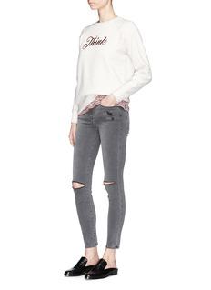Frame Denim'Le High Skinny' ripped jeans
