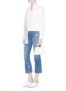 J Brand 'Selena' paint splatter cropped flared jeans