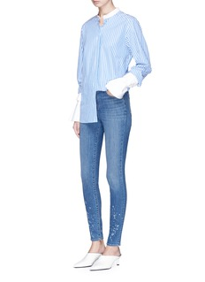 J Brand 'Maria' paint splatter high rise skinny denim pants