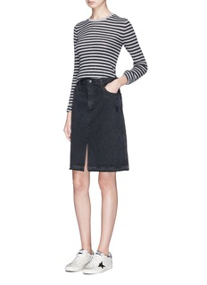 J Brand 'Carolina' high rise frayed denim skirt