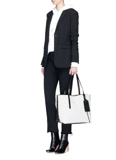 Jimmy Choo 'Twist East West' colourblock leather tote