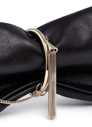 - Jimmy Choo - 'Charley' metal ring metallic leather clutch