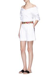 Dolce & GabbanaMajolica print textured cotton shorts