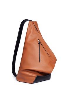 Loewe 'Anton' colourblock calfskin leather backpack