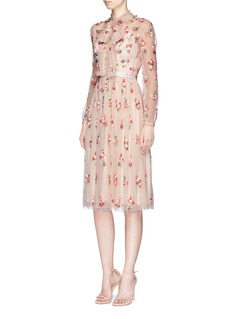 Needle & Thread'Ditsy' bow floral embellished lace dress