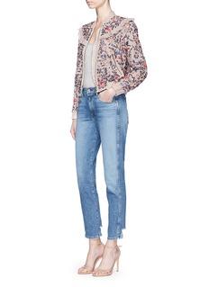 Needle & Thread'Whisper' floral embellished bomber jacket
