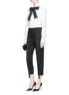 Dolce & Gabbana Grosgrain pussybow poplin shirt