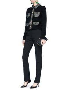 Dolce & Gabbana Embellished button cropped cashmere blend cardigan
