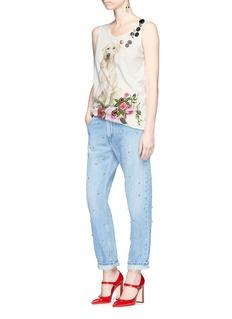 Dolce & Gabbana Dog print embellished tank top