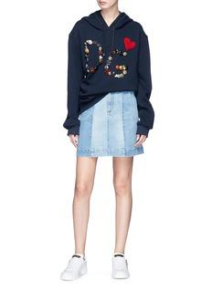 Dolce & Gabbana Crochet heart logo embellished hoodie