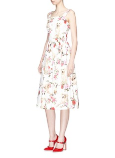 Dolce & Gabbana 'Mimmo and Zambia' print cotton poplin dress