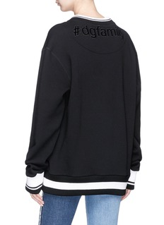 Dolce & Gabbana DG Family patch oversized sweatshirt
