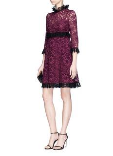 Dolce & Gabbana Floral guipure lace dress