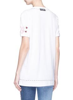 Dolce & Gabbana Mixed button heart patch T-shirt