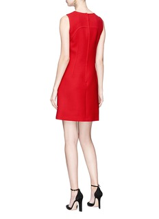 Dolce & Gabbana Bow embellished mini suiting dress