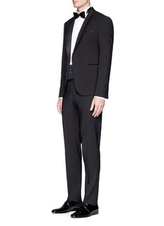 Armani Collezioni 'Metropolitan' sateen trim wool tuxedo suit