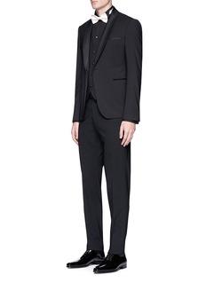 Armani Collezioni Virgin wool tuxedo pants