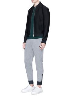 Armani CollezioniZip cuff bonded jersey sweatpants