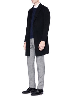 Armani Collezioni Felted wool-cashmere coat