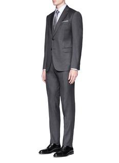 Armani Collezioni 'Metropolitan' micro check virgin wool-cashmere suit