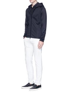 Armani Collezioni Raglan sleeve zip hoodie