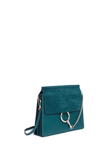 Chloé 'Faye' medium suede flap leather shoulder bag