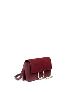 Chloé 'Faye' small suede flap leather crossbody bag