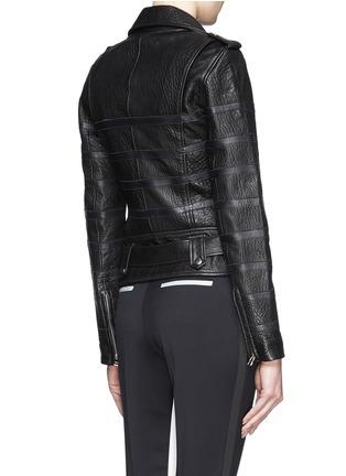 EACH X OTHER-x Naco Paris stripe leather biker jacket
