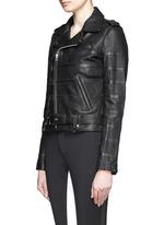 x Naco Paris stripe leather biker jacket