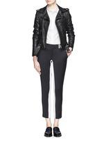 EACH X OTHERx Naco Paris stripe leather biker jacket