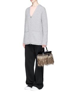 VASIC 'Box 2nd' faux fur leather box bag