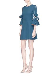 Roksanda 'Harlin' bow cuff bonded crepe dress