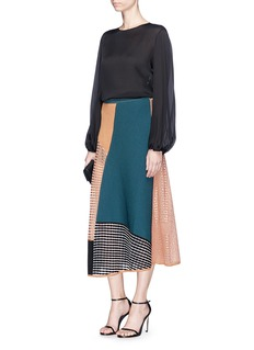 Roksanda 'Kasamo' colourblock mixed knit long skirt