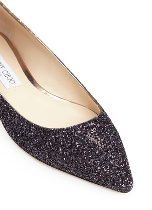 Detail View - Click To Enlarge - Jimmy Choo - 'Romy' dégradé coarse glitter skimmer flats