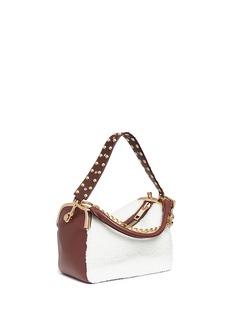 Sacai 'Hybrid' shearling panel leather duffle bag