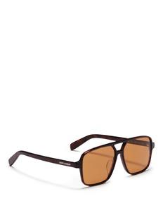 SAINT LAURENT SL 176 玳瑁纹oversize方形太阳眼镜
