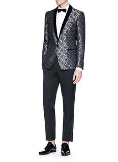 Dolce & Gabbana 'Gold' metallic embroidered tuxedo blazer