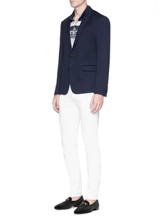 Dolce & Gabbana Stripe Capri scenery print polo shirt