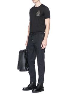 Dolce & GabbanaCrown bee crest embellished T-shirt