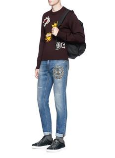 Dolce & Gabbana Bee crest embellished jeans