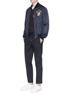 Dolce & Gabbana Crown crest appliqué padded windbreaker jacket