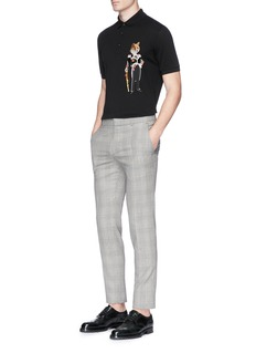 Dolce & Gabbana General fox appliqué polo shirt