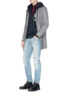 Dolce & GabbanaCrown crest appliqué zip hoodie