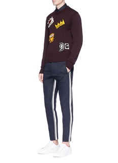 Dolce & Gabbana Stripe rib knit trim cropped jogging pants