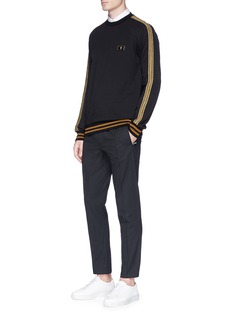 Dolce & Gabbana Metallic stripe outseam sweatshirt
